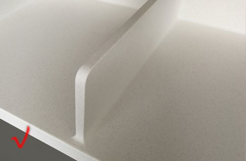 white best solid surface countertops customized for restaurant-19