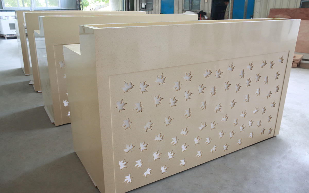white solid surface sheets customized for hotel