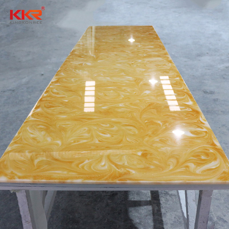 KingKonree China Manufacture Artificial Stone Translucent Solid Surface Sheets KKR - A031 Translucent Solid Surface Sheets image46