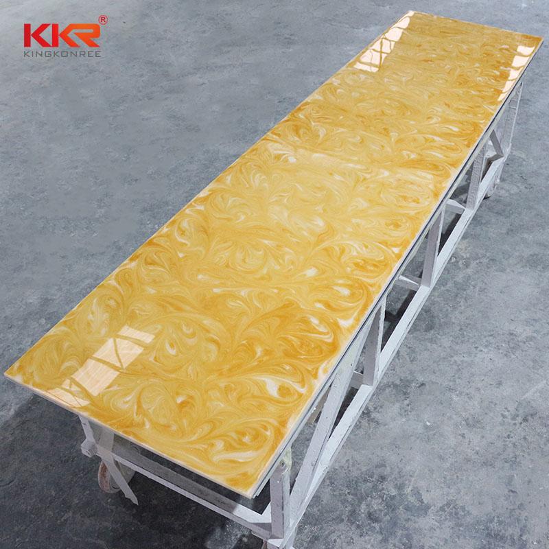 KingKonree China Manufacture Artificial Stone Translucent Solid Surface Sheets KKR - A031 Translucent Solid Surface Sheets image46