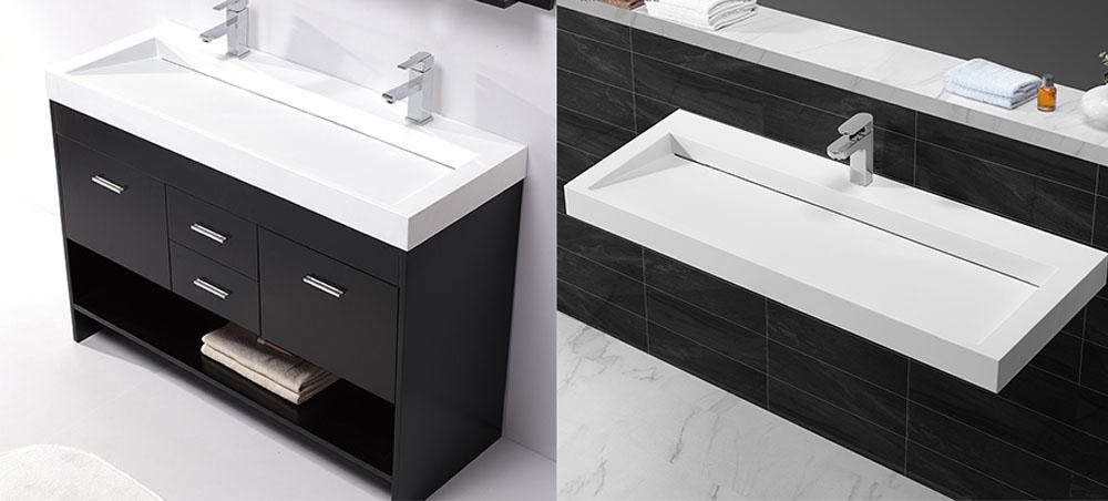 slope counter top wash basin with cabinet sinks for bathroom