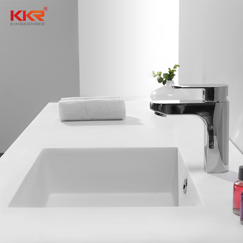 KingKonree Smooth Touch Acrylic Marble Solid Surface Cabinet Basin KKR-1551 Cabinet Basin image42