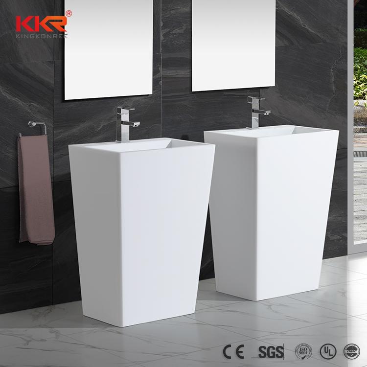KingKonree Bathroom Ware Acrylic Solid Surface Freestanding Basin KKR-1384 Freestanding Basin image41