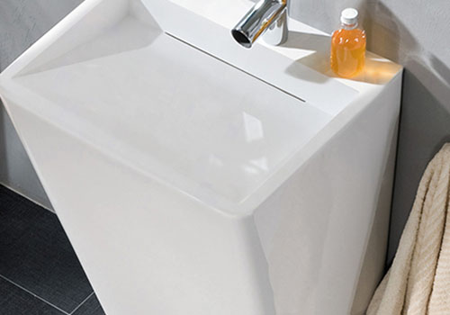 KingKonree rectangle freestanding pedestal sink manufacturer for hotel-3