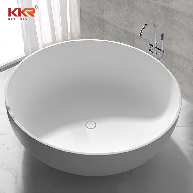 KingKonree 150cm Diameter Round Shape Solid Surface Bathtub KKR-B002-C Solid Surface Bathtub image35