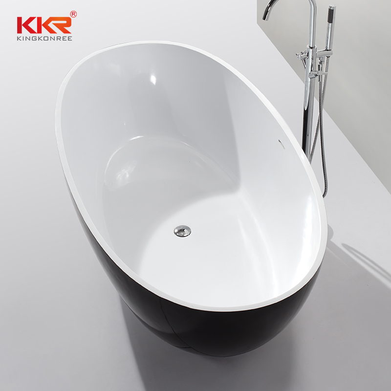 KingKonree Hot Selling Artificial Stone Solid Surface Freestanding Soaking Bathtub  KKR-B003 Solid Surface Bathtub image34