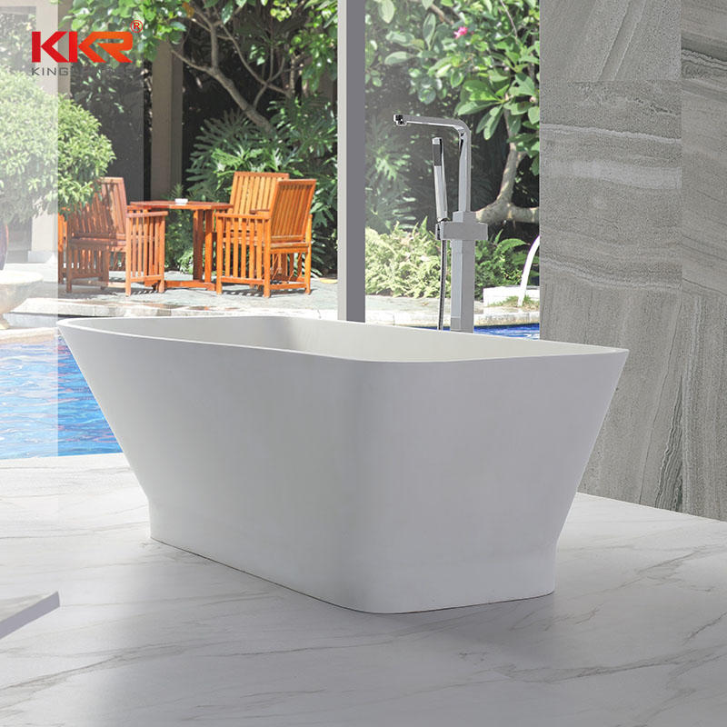 Small Size Royal White Rectangle Solid Surface Bathtub KKR-B005
