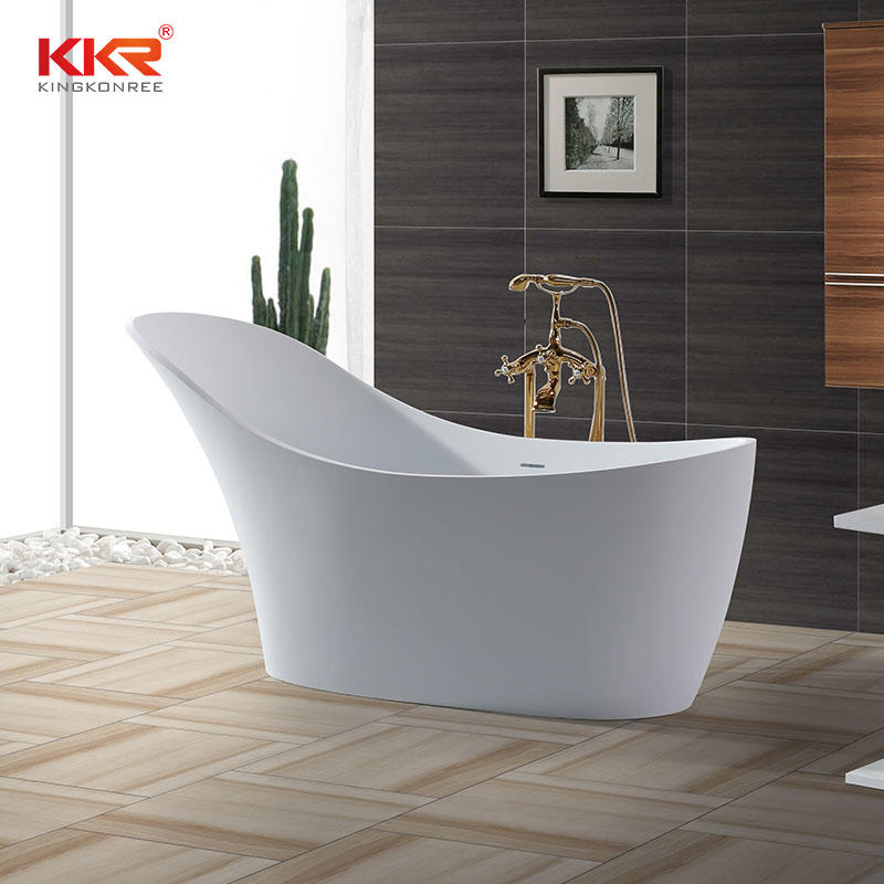 China Wholesale Artificial Stone Solid Surface Freestanding Bathtub KKR-B006