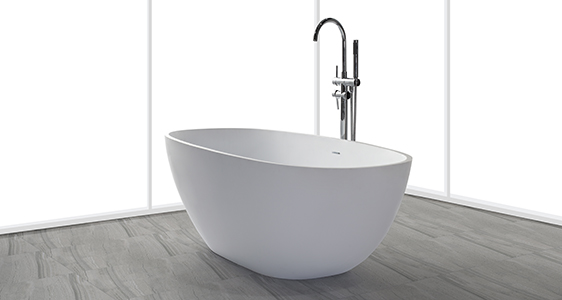KingKonree high-end acrylic clawfoot bathtub free design-1