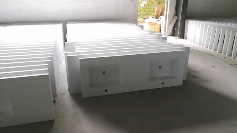 Solid Surface Cabinet Basin KKR-1356 Production