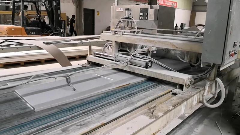 Hoja de superficie sólida acrílica de mármol Artificial fabricación KKR-M1665