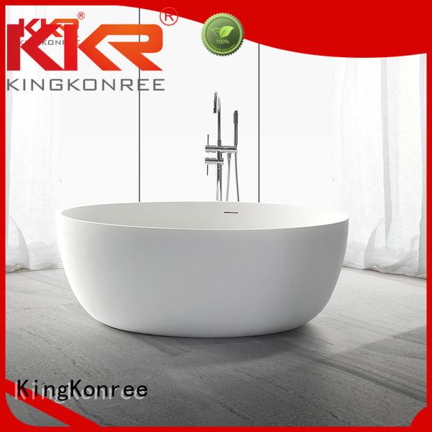 Quality KingKonree Brand Solid Surface Freestanding Bathtub shape b002c
