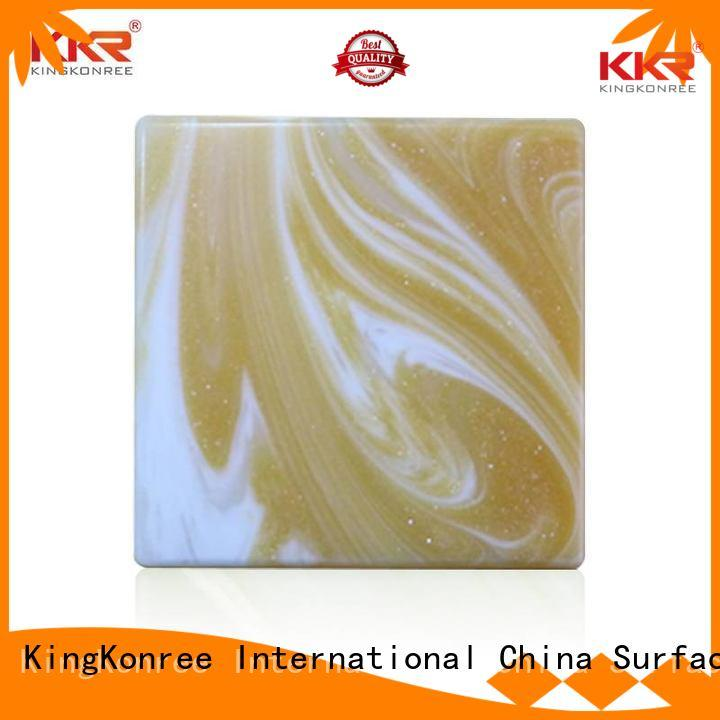 Quality KingKonree Brand stone artificial backlit translucent acrylic wall panels