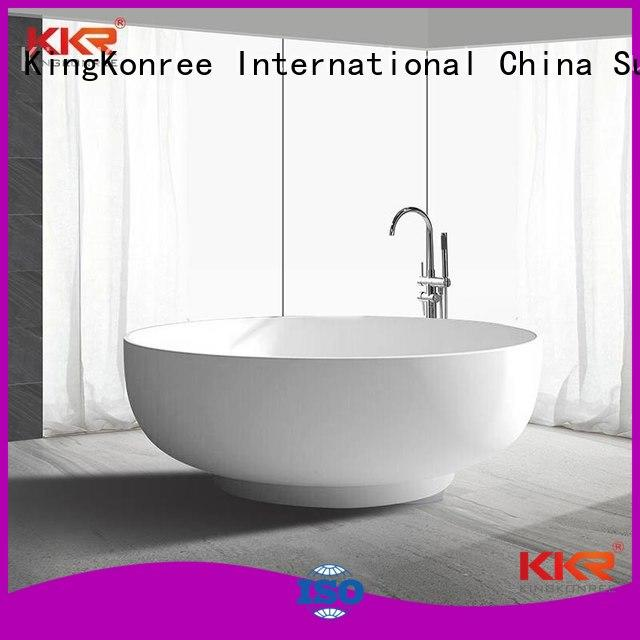 KingKonree Brand kkrb011 big bathtub storage solid surface bathtub
