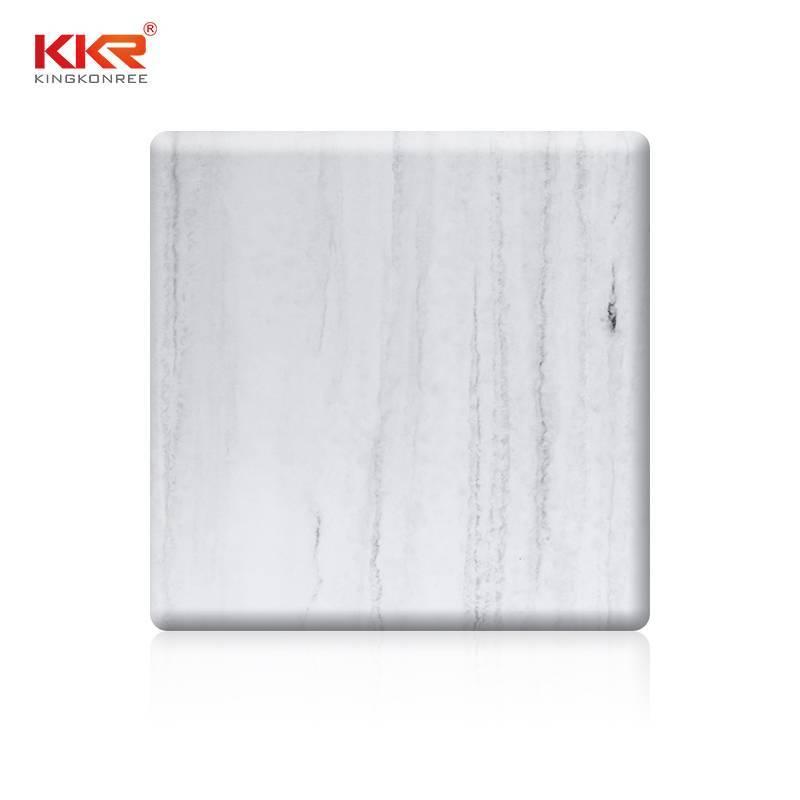 Patrón de textura de mármol artificial Hojas de superficie sólida KKR - M8810