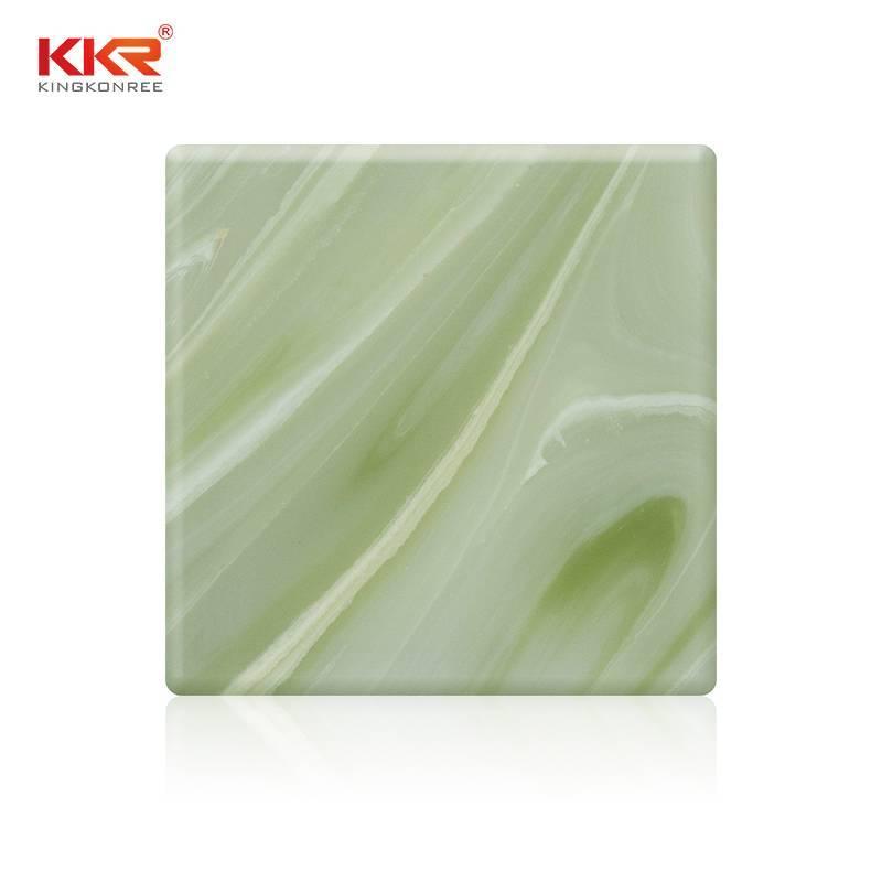 Hojas de superficie sólida translúcida de piedra acrílica KKR - A026