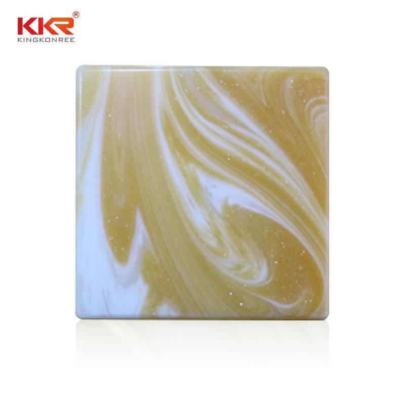 Fabricación de China Artificial Stone Translucent Solid Surface Sheets KKR - A031