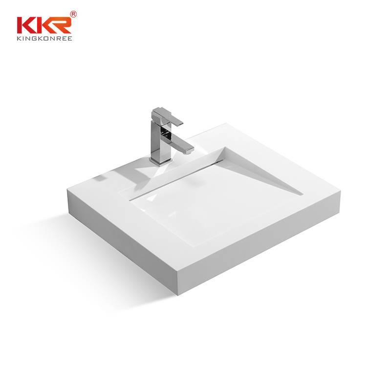 Artificial Stone Acrylic Solid Surface Wall Mount Basin KKR-1330
