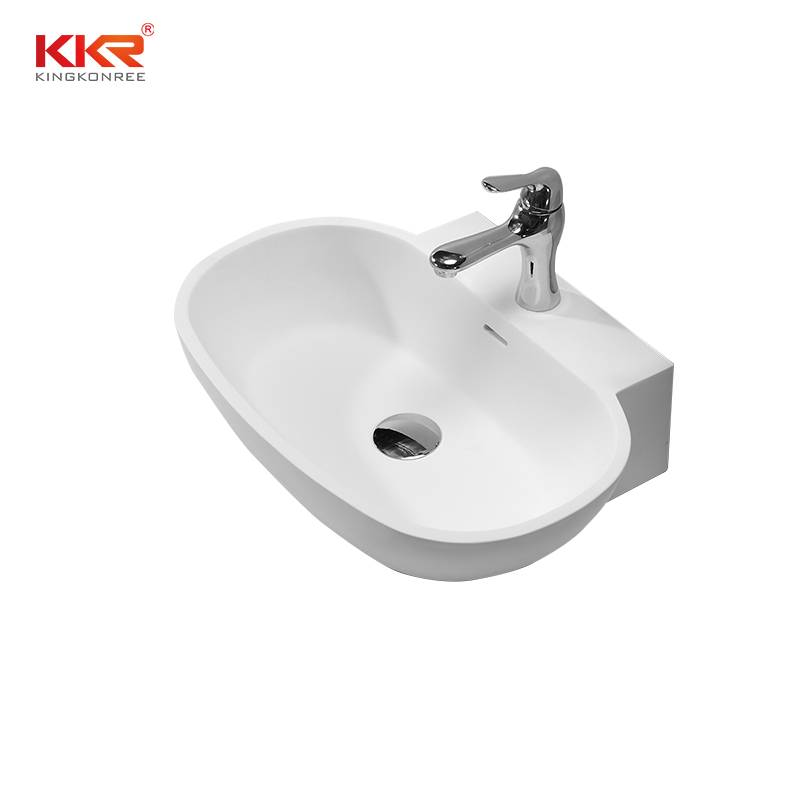 KingKonree Artificial Stone Sanitary Ware Countertop Wash Basin KKR-1328 Above Counter Basin image38