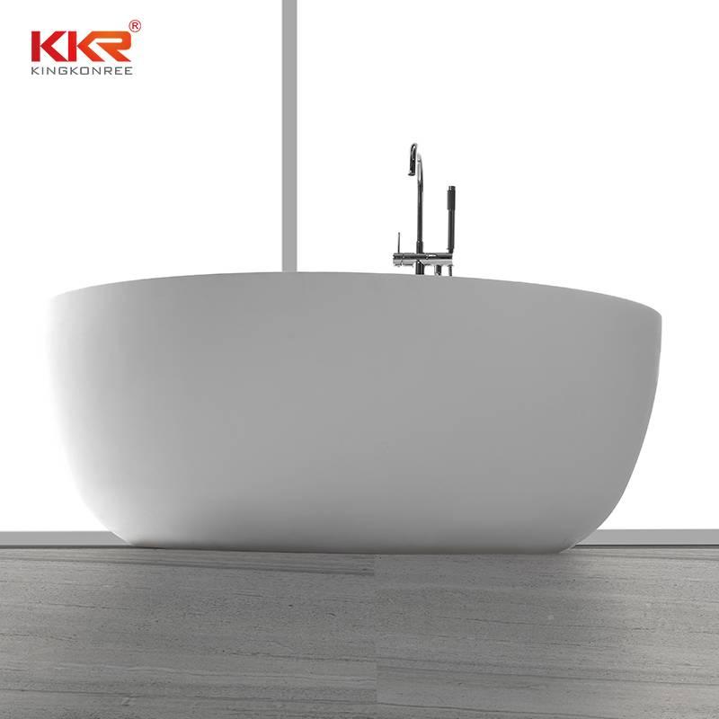KingKonree Small Size Round Acrylic Solid Surface Freestanding Bathtub KKR-B002 Solid Surface Bathtub image36