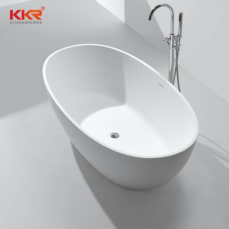 Hot Selling Artificial Stone Solid Surface Freestanding Soaking Bathtub  KKR-B003
