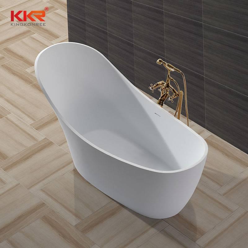 KingKonree China Wholesale Artificial Stone Solid Surface Freestanding Bathtub KKR-B006 Solid Surface Bathtub image31