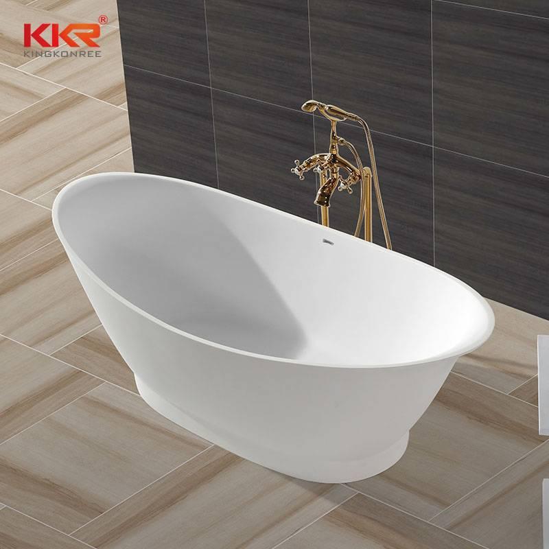 High-End Solid Surface Bathtub With Oval Shape KKR-B010