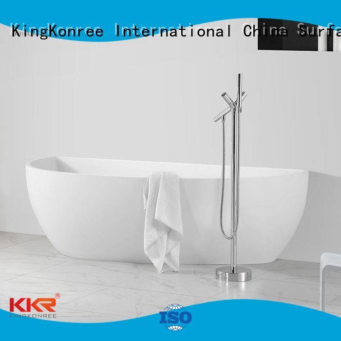 Wholesale stone Solid Surface Freestanding Bathtub KingKonree Brand