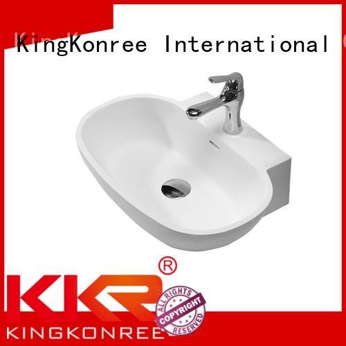 KingKonree Brand square countertop quality oval above counter basin