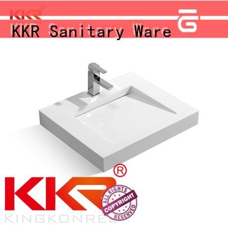 KingKonree wall hung rectangular basin wall hung manufacturer for hotel
