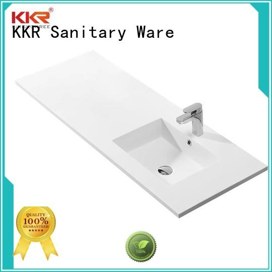 KingKonree rectangle wash basin with cabinet online design for hotel