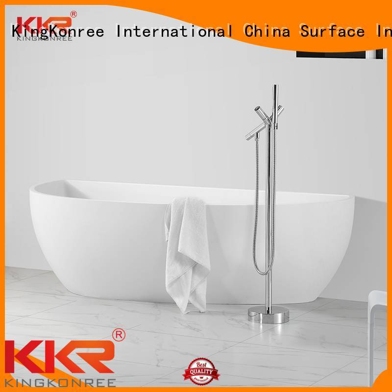 oval tub renewable KingKonree Brand Solid Surface Freestanding Bathtub manufacture