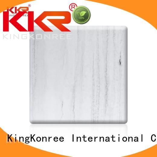 KingKonree grey solid surface sheet slabs customized for hotel