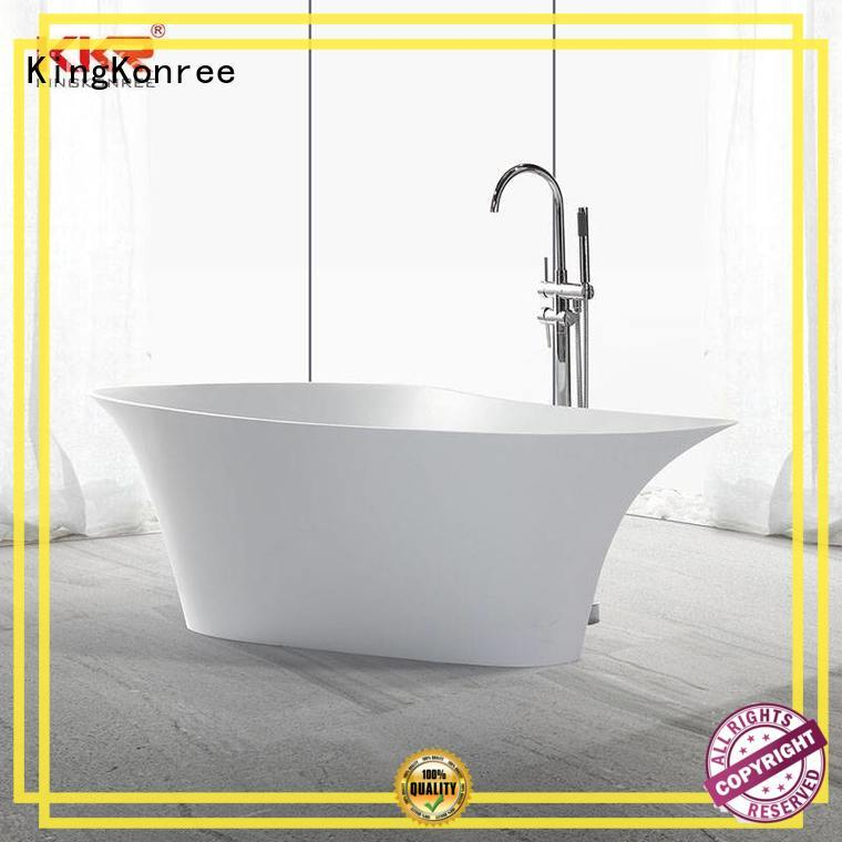 resin bathroom freestanding tub matt for family decoration KingKonree