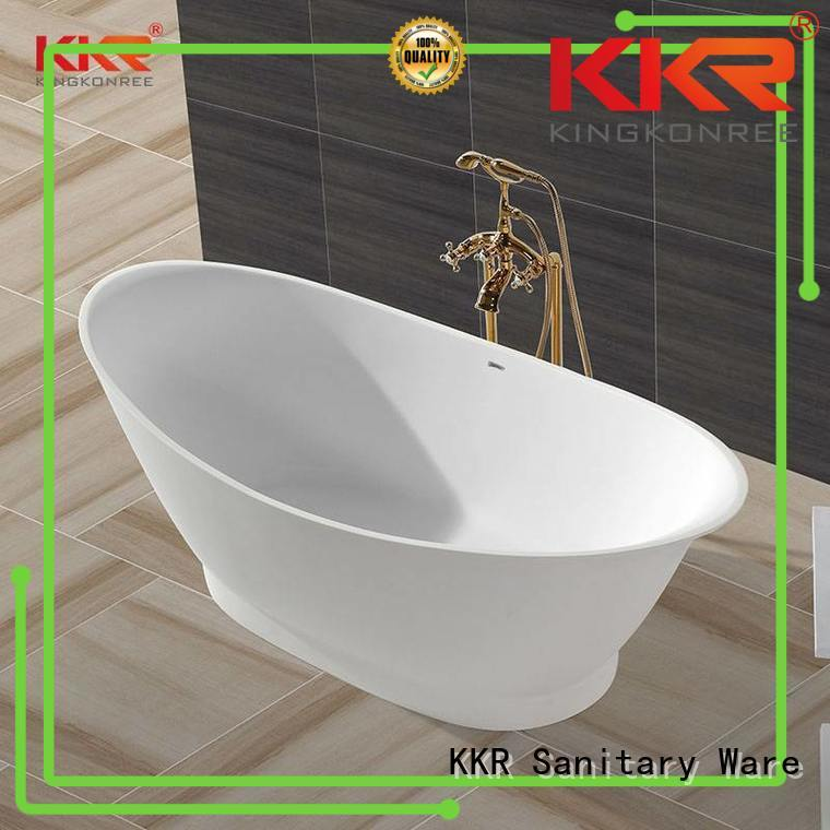 Hot solid surface bathtub free KingKonree Brand