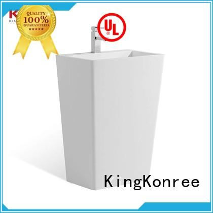 KingKonree durable free standing sink bowl customized for home