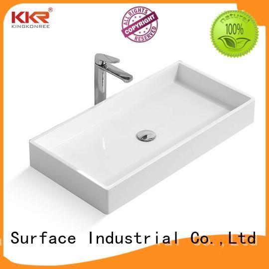 KingKonree best quality morning above counter sink design for restaurant