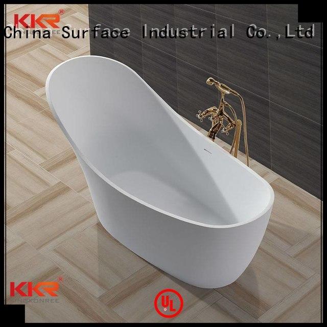 Hot storage Solid Surface Freestanding Bathtub soaking KingKonree Brand