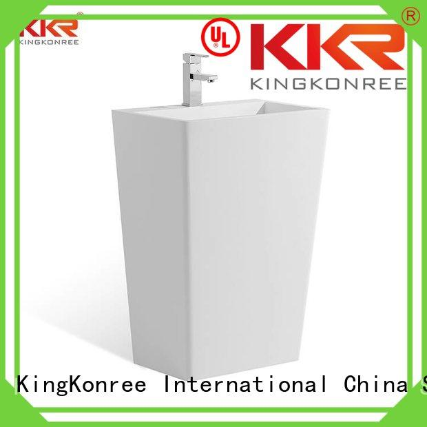 KingKonree Brand wash stone bathroom free standing basins acyrlic supplier
