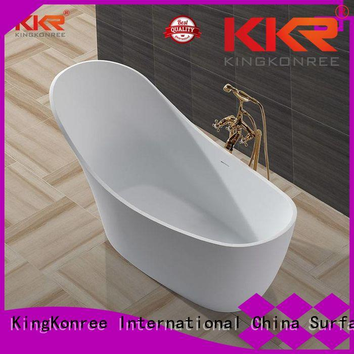 KingKonree Brand bathtubs against custom Solid Surface Freestanding Bathtub