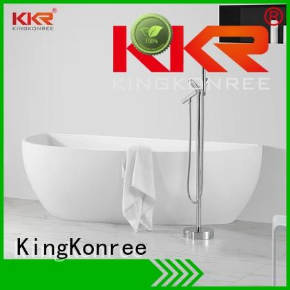 floor black OEM solid surface bathtub KingKonree