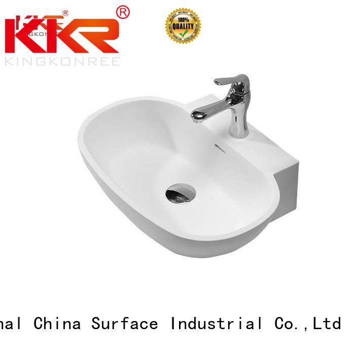 oval above counter basin counter solid wash KingKonree Brand