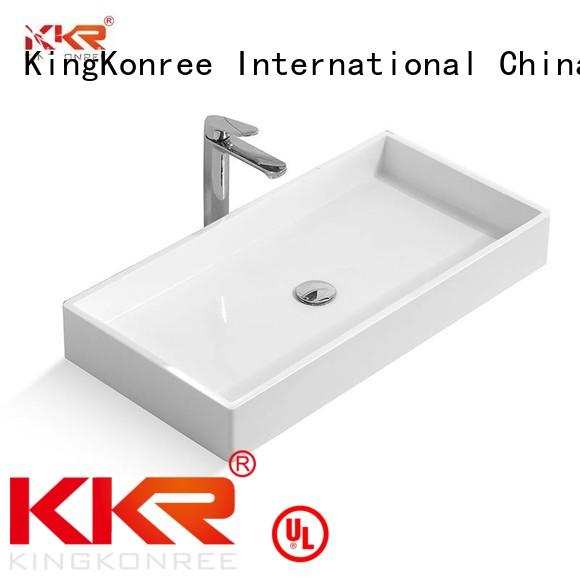 above acrylic bathroom KingKonree Brand oval above counter basin factory