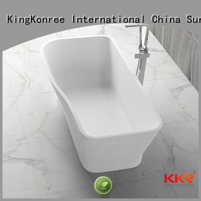 stone resin artificial solid solid surface bathtub KingKonree