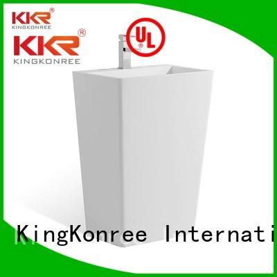Quality KingKonree Brand bathroom free standing basins square pedestal