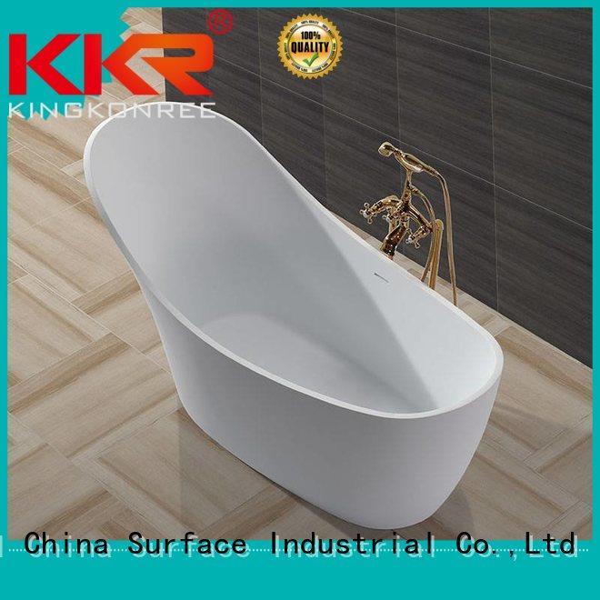oval Custom floor b006 solid surface bathtub KingKonree b001