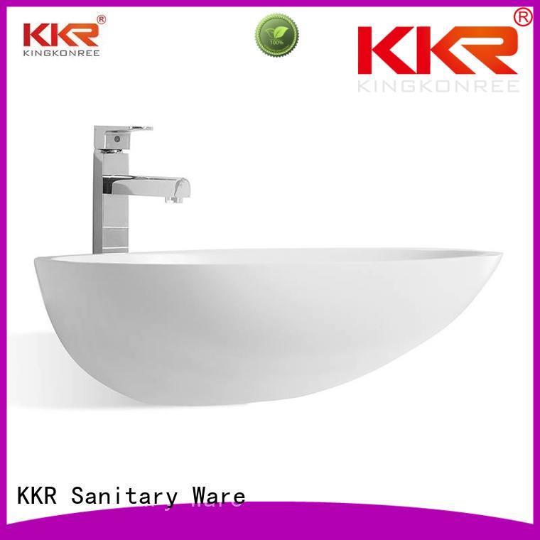 KingKonree Brand square rectangle kkr custom oval above counter basin