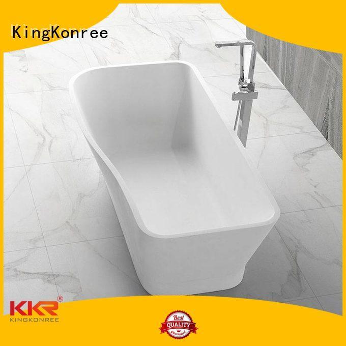 oval resin b010 solid surface bathtub KingKonree Brand company