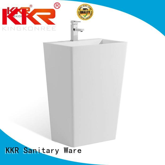 bathroom free standing basins kkr stone artificial freestanding basin manufacture