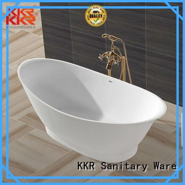 Solid Surface Freestanding Bathtub b003 bathtub solid surface bathtub KingKonree Brand